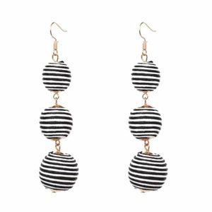 Jewelry - Bobble Dangle Earrings in Black and White